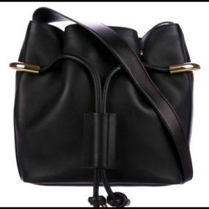Chloe Emma black leather bucket bag